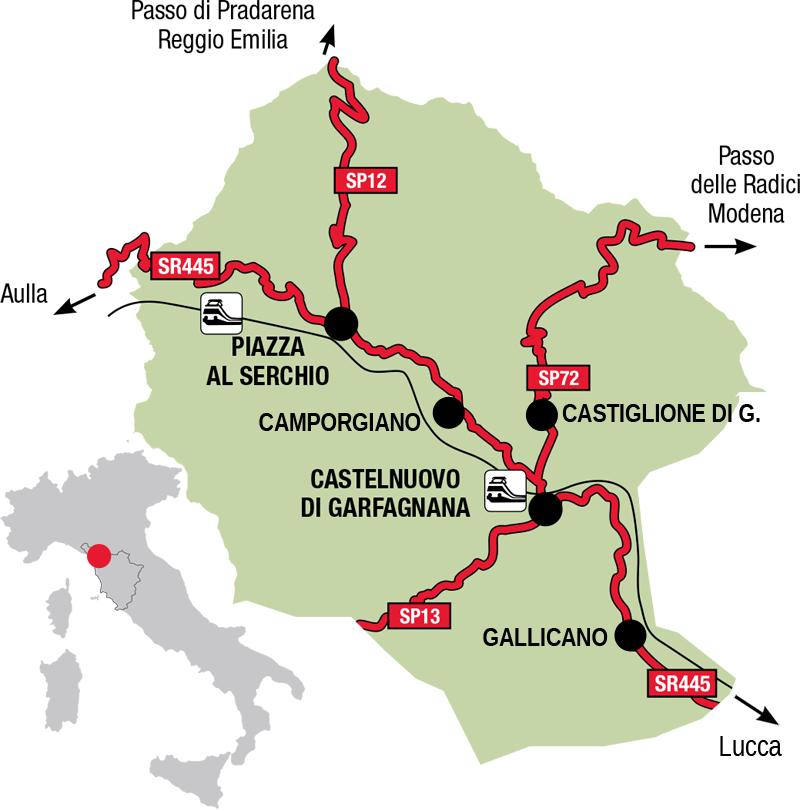 mappa Garfagnana